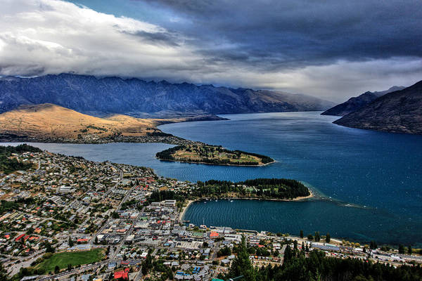 Queenstown New Zealand Art Print