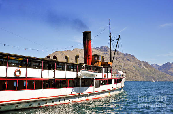 Wall Art - Photograph - Queenstown Steamboat by Delphimages Photo Creations