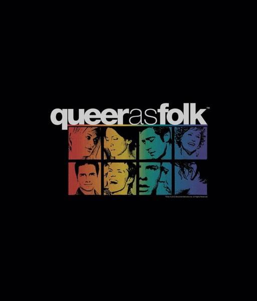 Tv Wall Art - Digital Art - Queer As Folk - Cast by Brand A