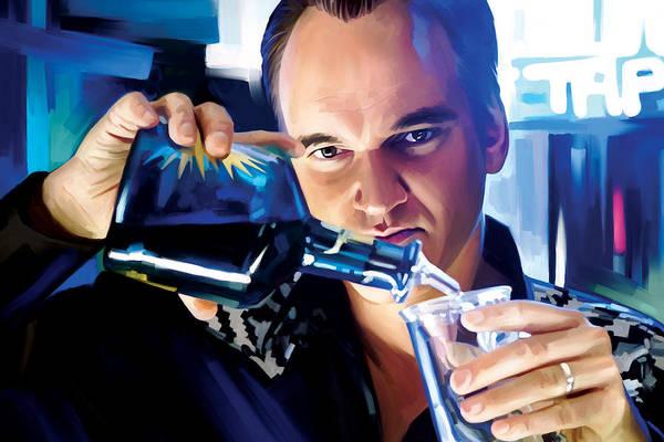 Director Painting - Quentin Tarantino Artwork 1 by Sheraz A