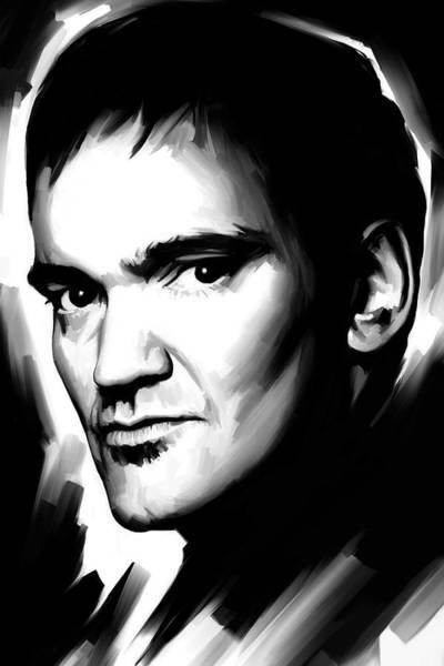 Director Painting - Quentin Tarantino Artwork 2 by Sheraz A