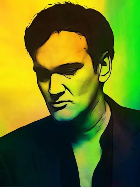 Wall Art - Digital Art - Quentin Tarantino  by Dan Sproul