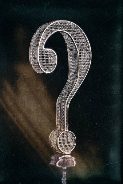 Solution Wall Art - Photograph - Question Mark by Tom Mc Nemar