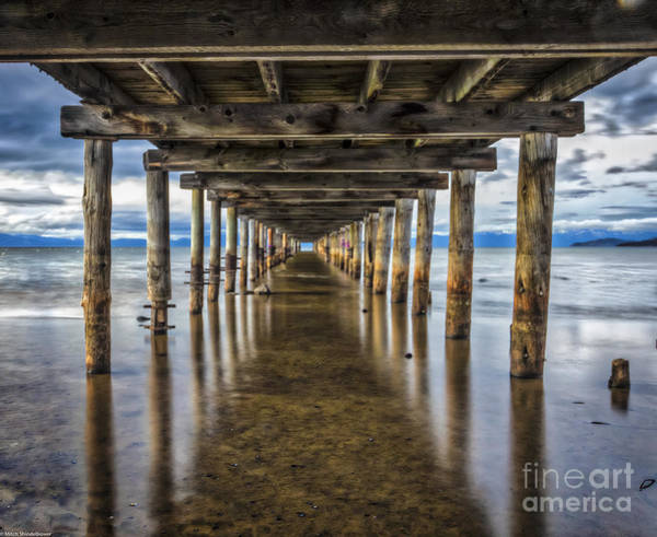 Under The Pier Photograph - Question Of Balance by Mitch Shindelbower