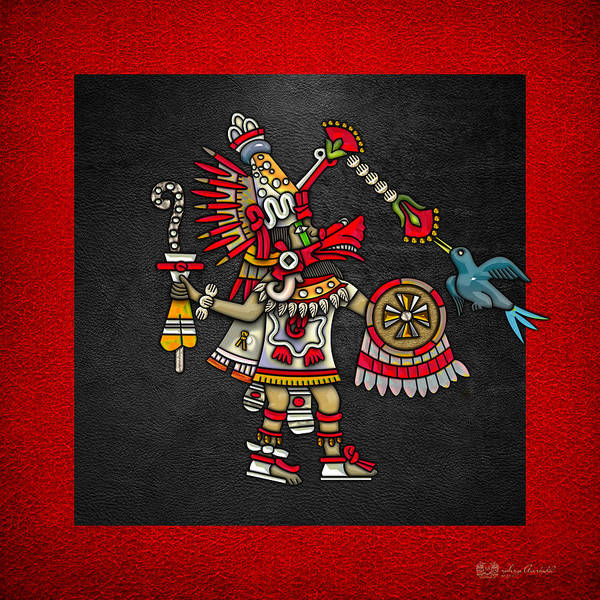 Digital Art - Quetzalcoatl In Human Warrior Form - Codex Magliabechiano by Serge Averbukh