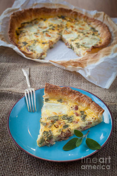 Cheese Cake Wall Art - Photograph - Quiche With Ham And Sage by Sabino Parente