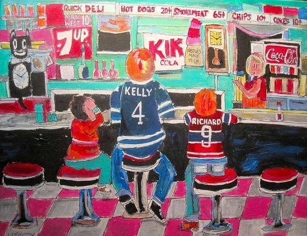 Montreal Canadiens Painting - Quick Deli by Michael Litvack