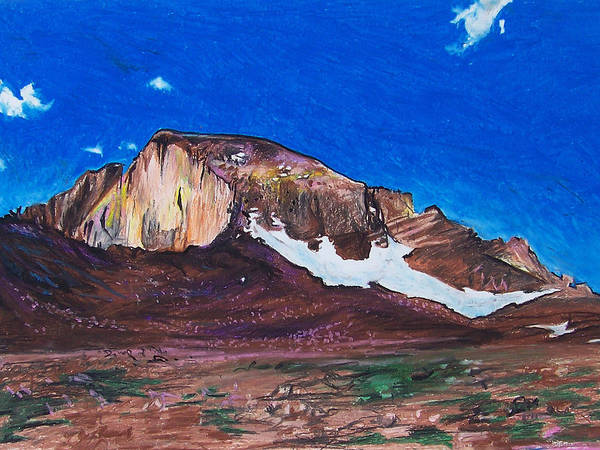 Painting - Quick Sketch - Longs Peak 2 by Aaron Spong