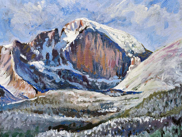 Painting - Quick Sketch - Longs Peak by Aaron Spong