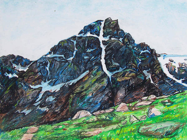 Painting - Quick Sketch - Mt. Of The Holy Cross by Aaron Spong