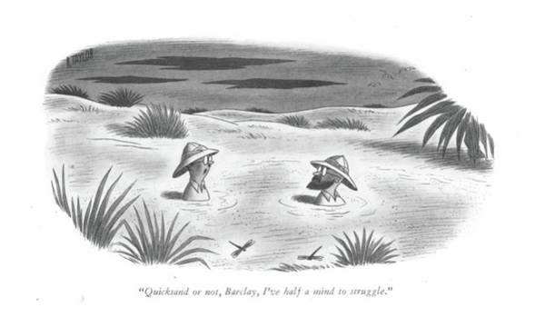 Wall Art - Drawing - Quicksand Or by Richard Taylor