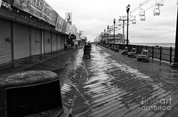 Photograph - Quiet Boardwalk Mono by John Rizzuto