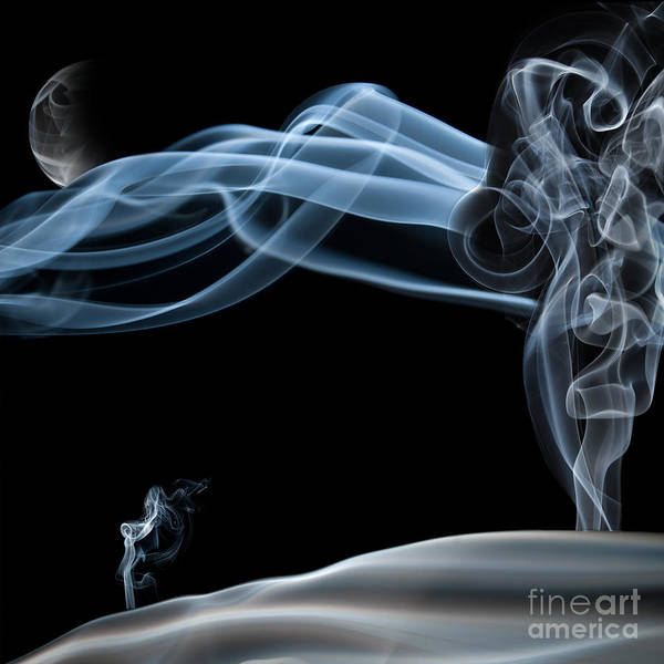 Sabine Photograph - Quiet Night Smoke Photography by Sabine Jacobs