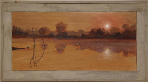 Water Foul Painting - Quiet Pond by Fred Paddock