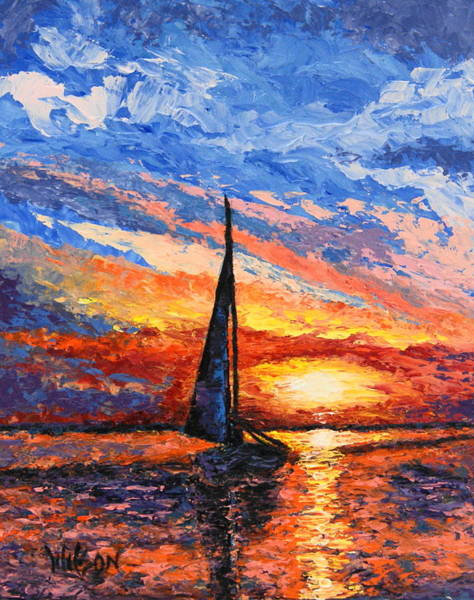 Painting - Quiet Sail II by Chrys Wilson