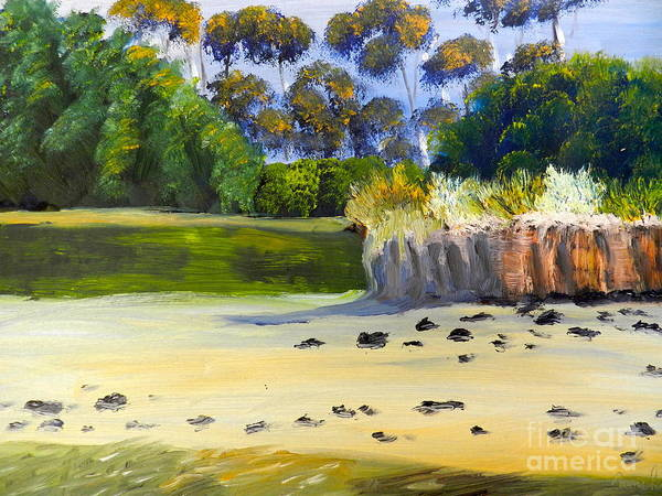 Sand Creek Painting - Quiet Sand By The Creek by Pamela  Meredith