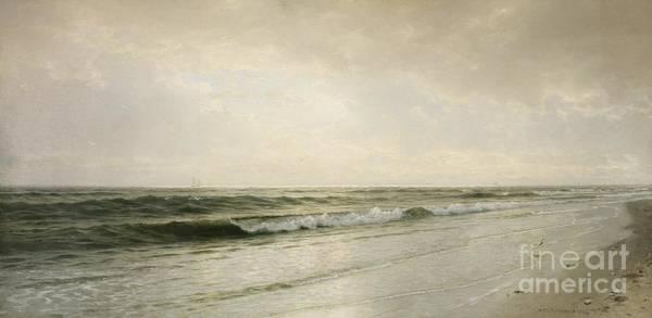 Bay Shore Painting - Quiet Seascape by William Trost Richards