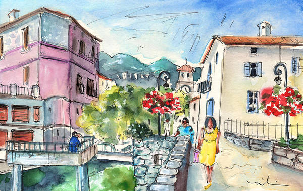 Southern France Painting - Quillan 06 by Miki De Goodaboom