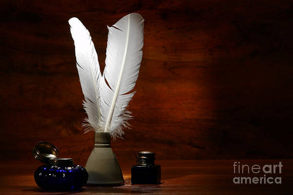 Photograph - Quills And Inkwells by Olivier Le Queinec