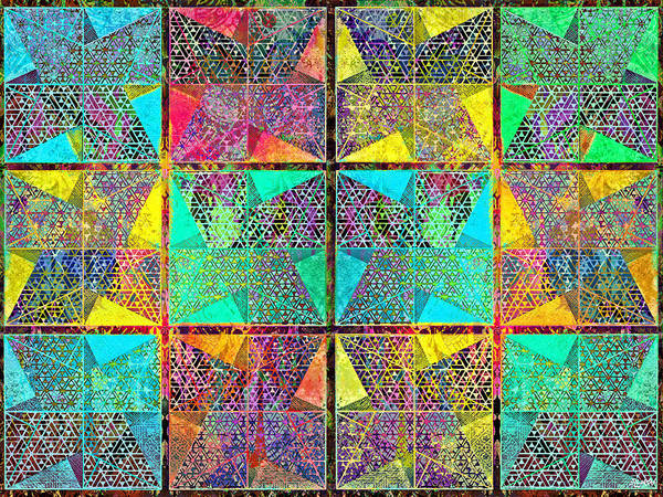 Digital Art - Quilt Concept 1 by Steven Llorca