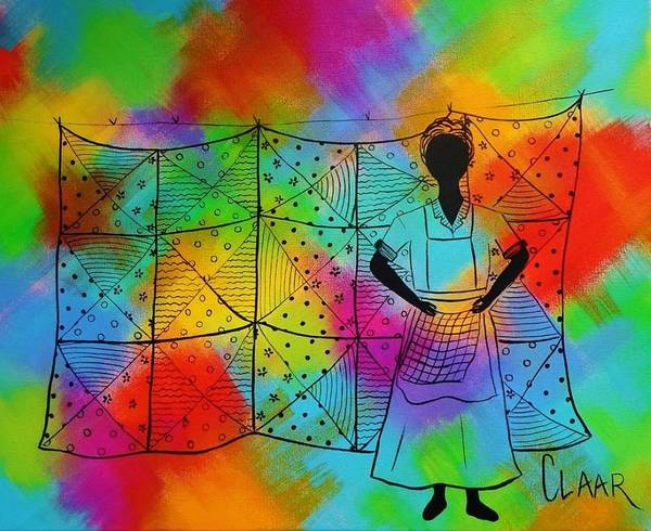 Gullah People Wall Art - Painting - Quilt Madness by Samantha Claar