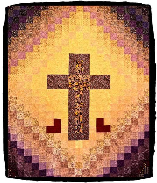 Bonneville County Photograph - Quilted Cross by Image Takers Photography LLC - Carol Haddon