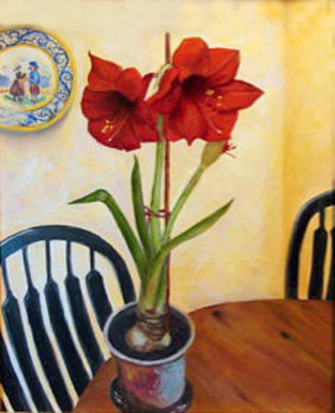 Amaryllis Painting - Quimper And Amaryllis by Sandra Nardone