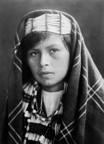 Indigenous Wall Art - Photograph - Quinault Indian Woman Circa 1913 by Aged Pixel