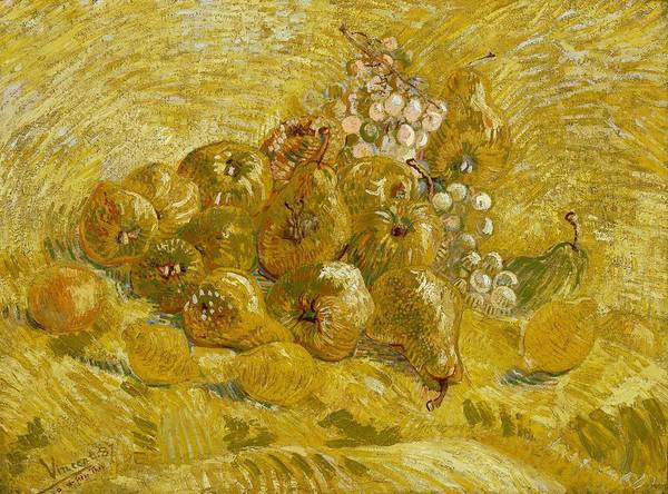Wall Art - Painting - Quinces Lemons Pears And Grapes by Vincent van Gogh