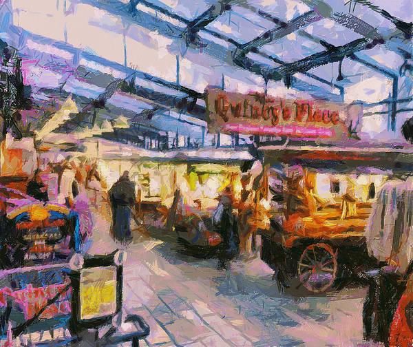 Quincy Market Digital Art - Quincy Market In Boston 1 by Yury Malkov