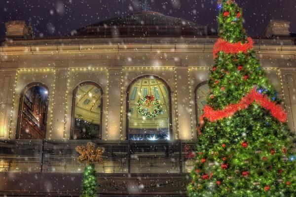 Photograph - Quincy Market Snowfall - Boston Ma by Joann Vitali
