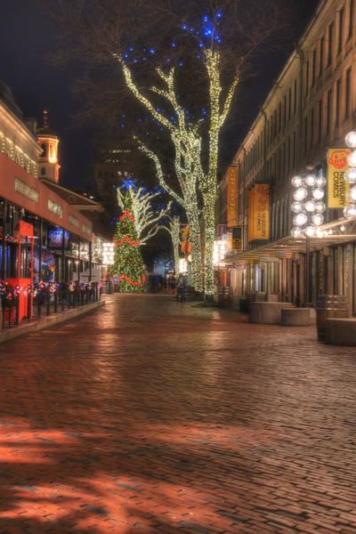 Photograph - Quincy Market Stroll - Boston by Joann Vitali