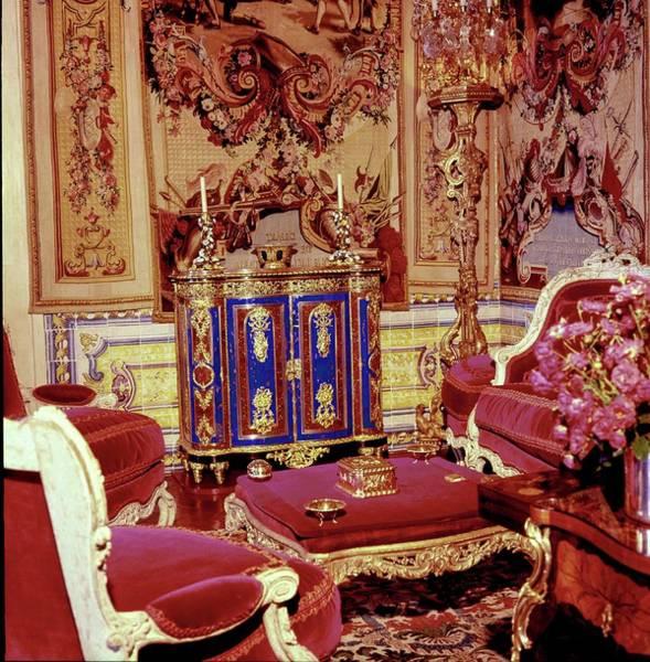 Wall Art - Photograph - Quinta Patino Living Room by Horst P. Horst