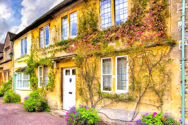 Photograph - Quintessential English Village Cottage - Lacock by Mark Tisdale