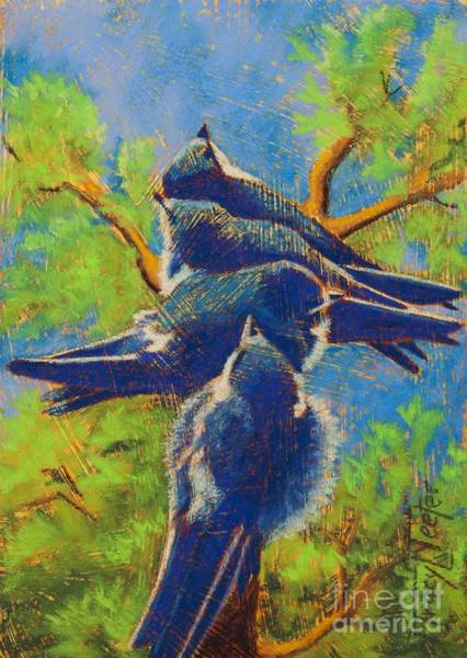 Barn Swallow Wall Art - Pastel - Quit Pushing by Tracy L Teeter
