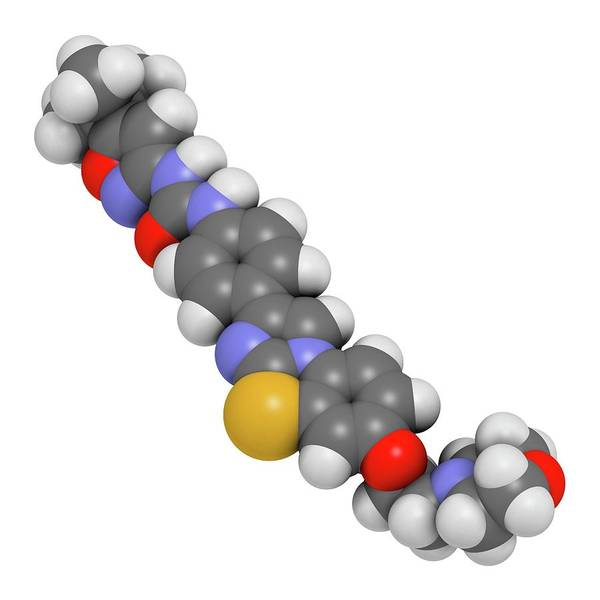 Quizartinib Cancer Drug Molecule Art Print