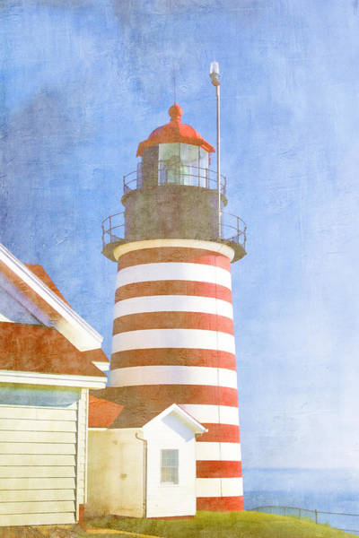 Quoddy Lighthouse Lubec Maine Art Print