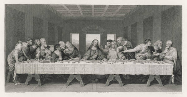 """Wall Art - Drawing - """"jesus Said,-one Of You That by Mary Evans Picture Library"""
