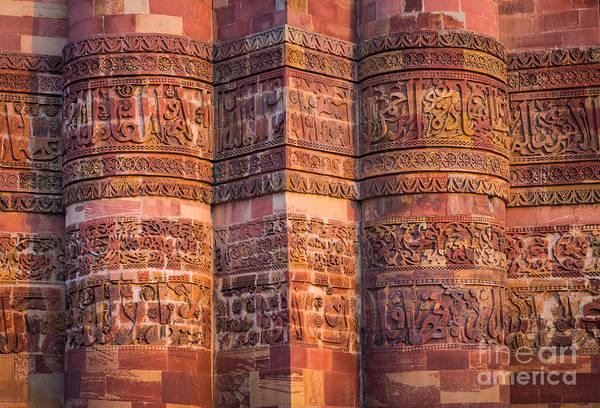 Photograph - Qutab Minar Detail by Inge Johnsson