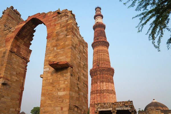 Wall Art - Photograph - Qutb Minar And Its Monuments (unesco by Keren Su