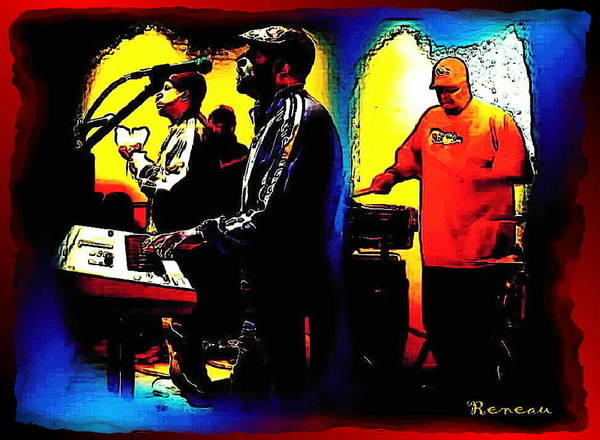 Frontman Wall Art - Photograph - R And B Band by A L Sadie Reneau