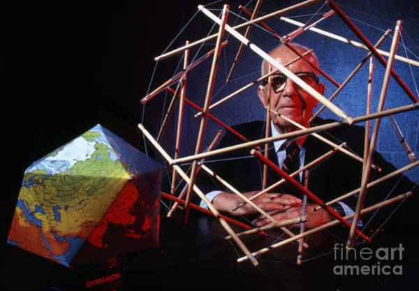 Inventor Photograph - R. Buckminster Fuller 1981 by The Harrington Collection