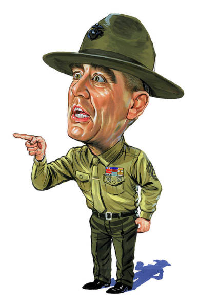 Marvelous Wall Art - Painting - R. Lee Ermey As Gunnery Sergeant Hartman by Art
