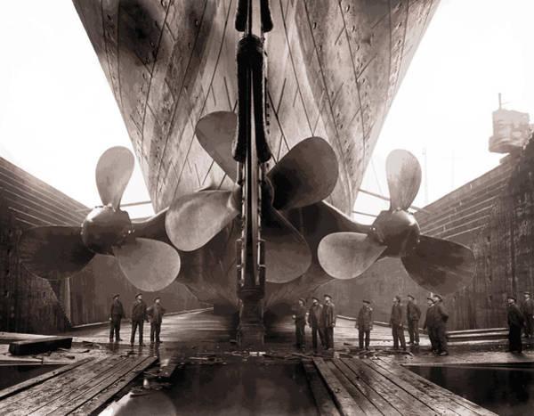 Prop Digital Art - R M S Titanic Props  1911 by Daniel Hagerman