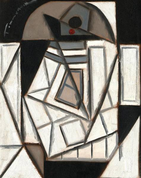 Wall Art - Painting - R2 Cubism Art Print by Tommervik