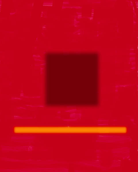 Photograph - Color Field In Red With Square And Bar by Gene Norris