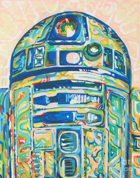 Star Wars Wall Art - Painting - R2 by Jesse Quinn Mayorga