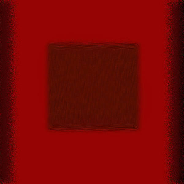 Photograph - Color Field In Red With Dark Square by Gene Norris