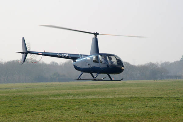 Nikon D5000 Photograph - R44 Raven Helicopter by Chris Day