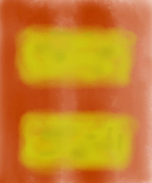 Photograph - Color Field With Two Rectangles by Gene Norris